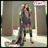 GJ Collection Digital Printed cotton unstitched three pieces